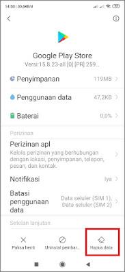 Hapus data play store aman