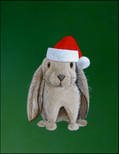 rabbit,bunny,lop ears,lop-eared,Christmas,green,red,Santa hat,cute,furry,whiskers