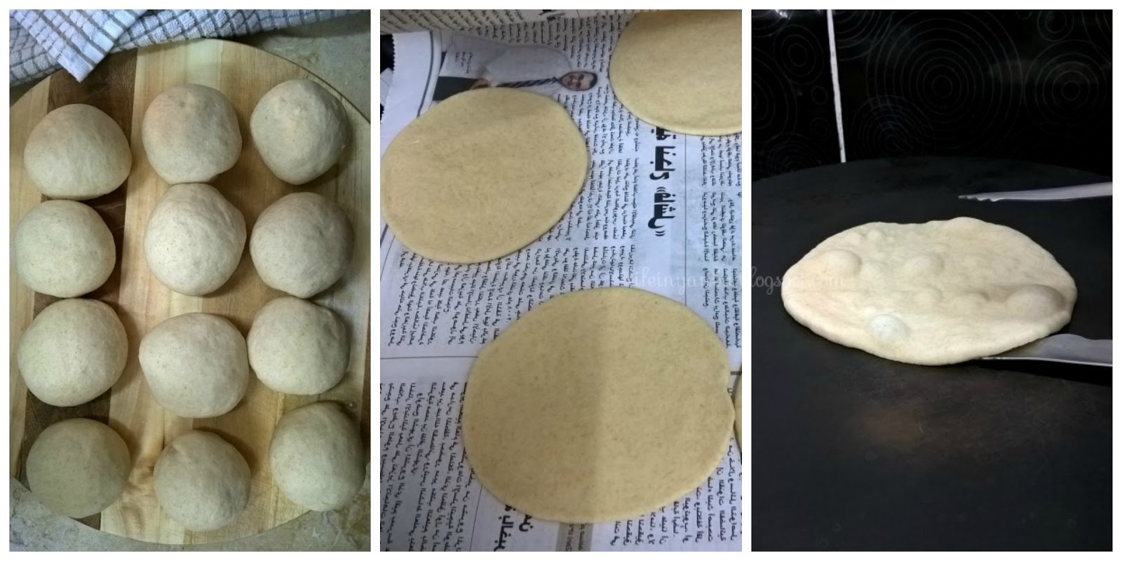 Home-made Stove-top Pita Breads