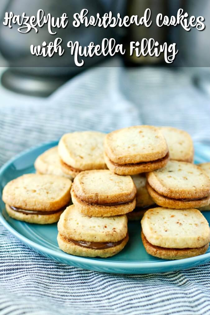 Hazelnut shortbread cookies for serving