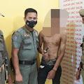 Tim URC Satpol PP Inhil Amankan Seorang Pemuda dengan Kepemilikan Senjata Tajam