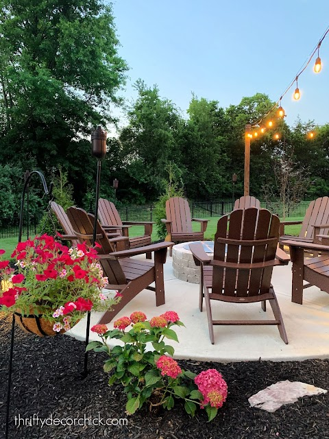 fire pit with chairs surrounding
