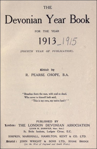 The Devonian Year Book for the Year 1913