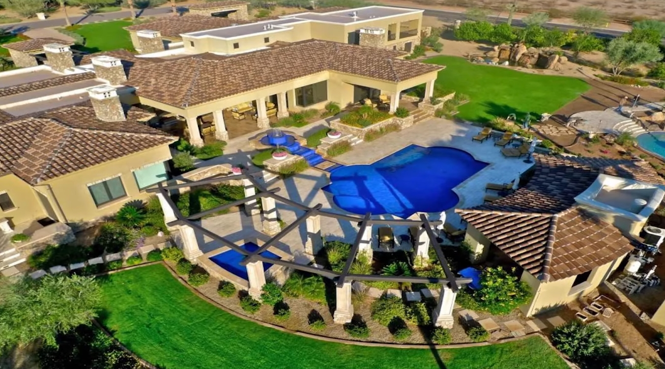 19 Photos vs. This Arizona Mega Mansion Features the Largest Private Lazy River in America - Luxury Home & Interior Design Video Tour