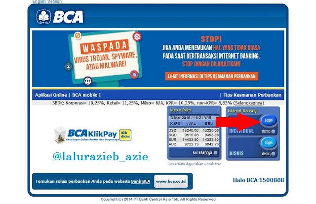 Gambar login klikBCA