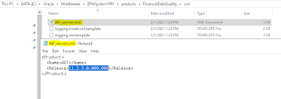 EPM 11.2: How to check FDMEE application/patch version