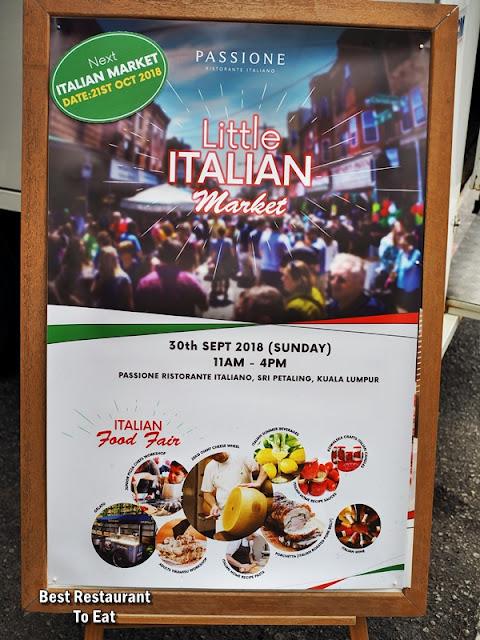 PASSIONE RISTORANTE ITALIANO Little Italian Market Fair at Sri Petaling Kuala Lumpur
