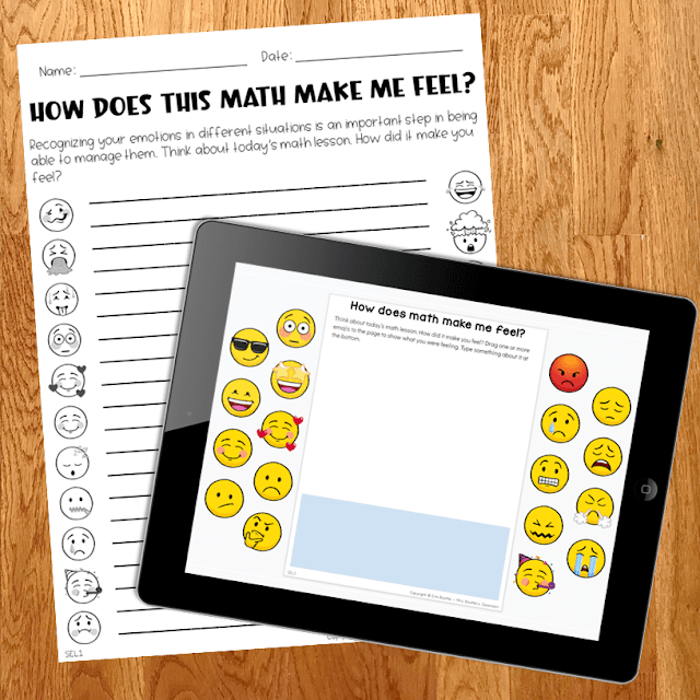 Photo of FREE sample printable and digital SEL in Math activities.