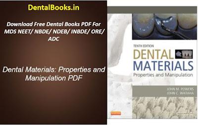 Dental Materials: Properties and Manipulation PDF