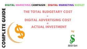 digital marketing budget for a digital marketing campaign