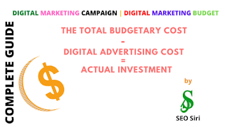 digital marketing budget for a digital marketing campaign
