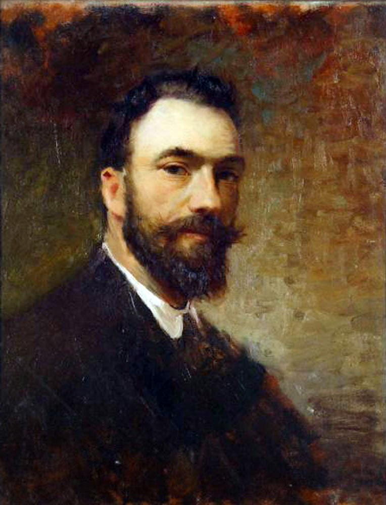 Enrico Crespi, Self Portrait, Portraits of Painters, Fine arts, Painter Enrico Crespi
