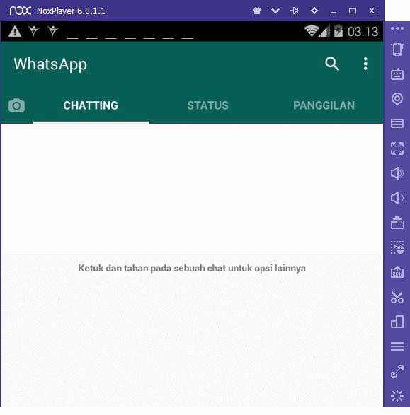 Contoh Pakai WA via Emulatro Android di PC