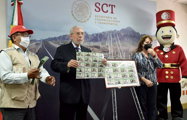 Celebra Lotenal con billete conmemorativo el 130º aniversario de la SCT