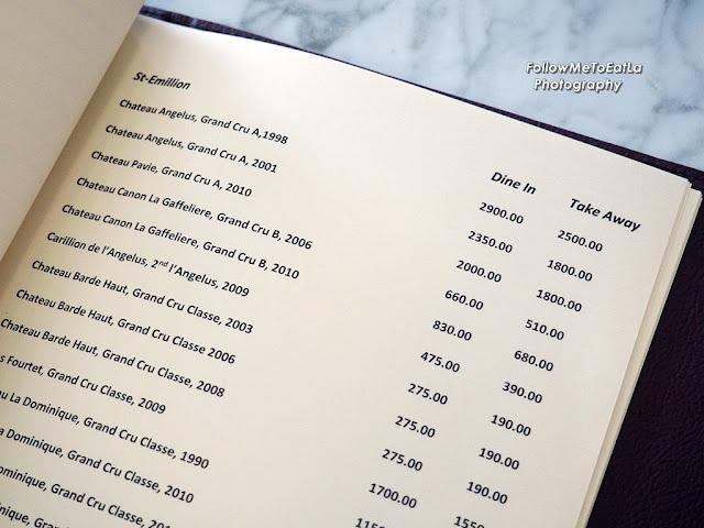 SOLEIL Wine List