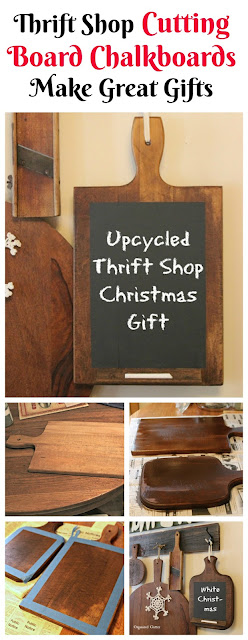Thrift Shop Cutting Board Makeover