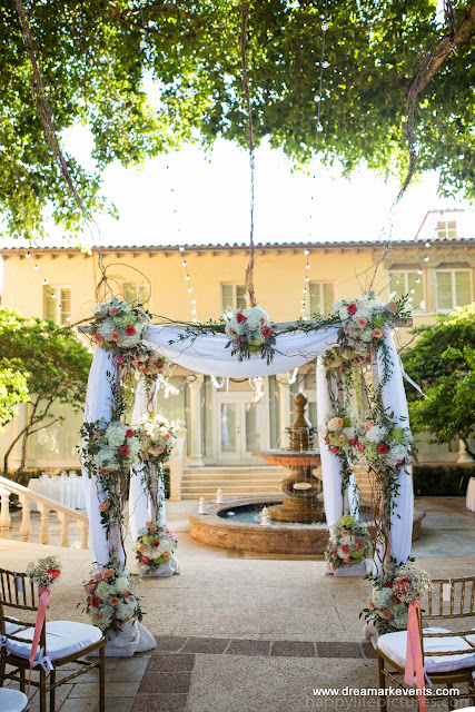 Birch Chuppah, Fresh Flowers, Vintage wedding, Chuppah