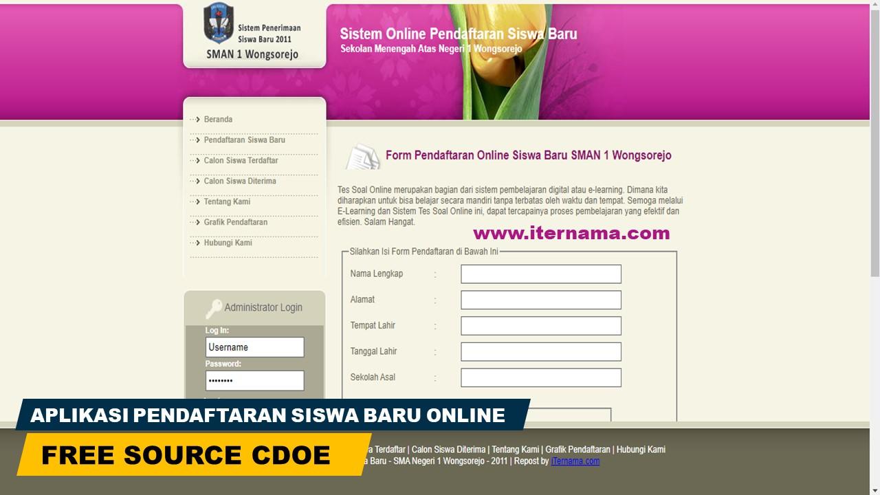 Source Code Aplikasi Pendaftaran Siswa Baru Online (PHP)