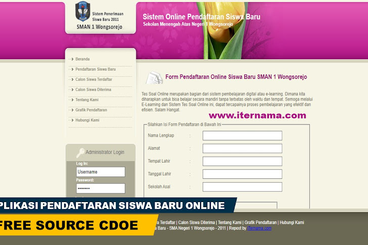 Aplikasi Pendaftaran Siswa Baru Online (PHP)