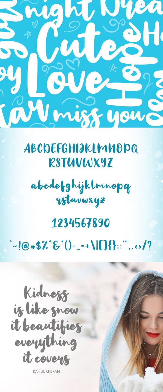 Free Font - Big Snow Free Font