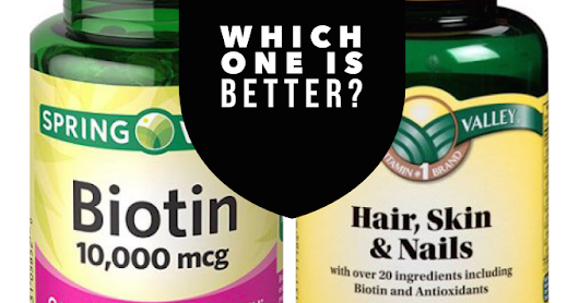 LET'S GROW HAIR: PRODUCT REVIEW SKIN HAIR & NAIL PILLS VS. BIOTIN