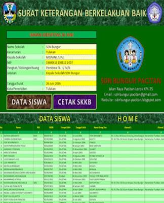 Aplikasi Cetak Surat Keterangan Kelakuan Baik ( SKKB ) oleh Sekolah