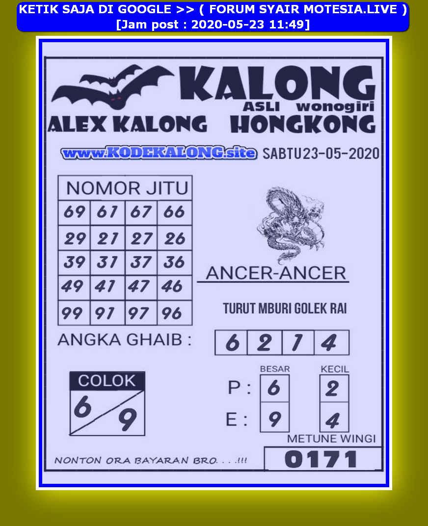 Kode syair Hongkong Sabtu 23 Mei 2020 82