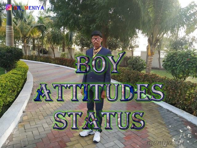 Boy Attitude Ststus dil_meniya