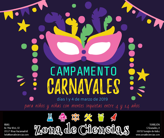 Campamento Carnavales 2019 para niños y niñas con mentes inquietas