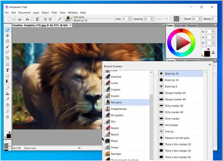 Artweaver Free: Πλήρες, λειτουργικό, δωρεάν πρόγραμμα ζωγραφικής