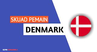 daftar susunan nama pemain timnas Denmark terbaru