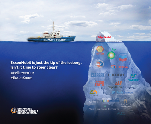 Poster of the Week - ExxonMobil is just the tip of the iceberg.  Isn't it time to steer clear?