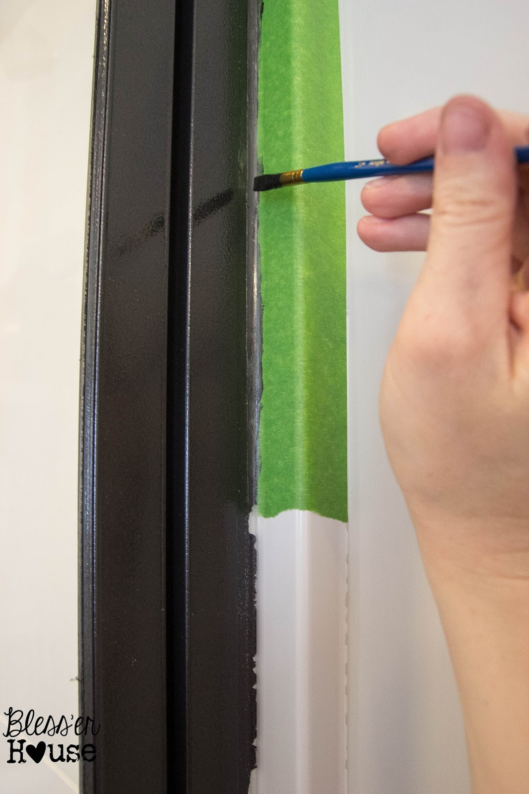 How Not To Paint A Shower Door And How To Fix Spray Paint Mistakes Bless Er House