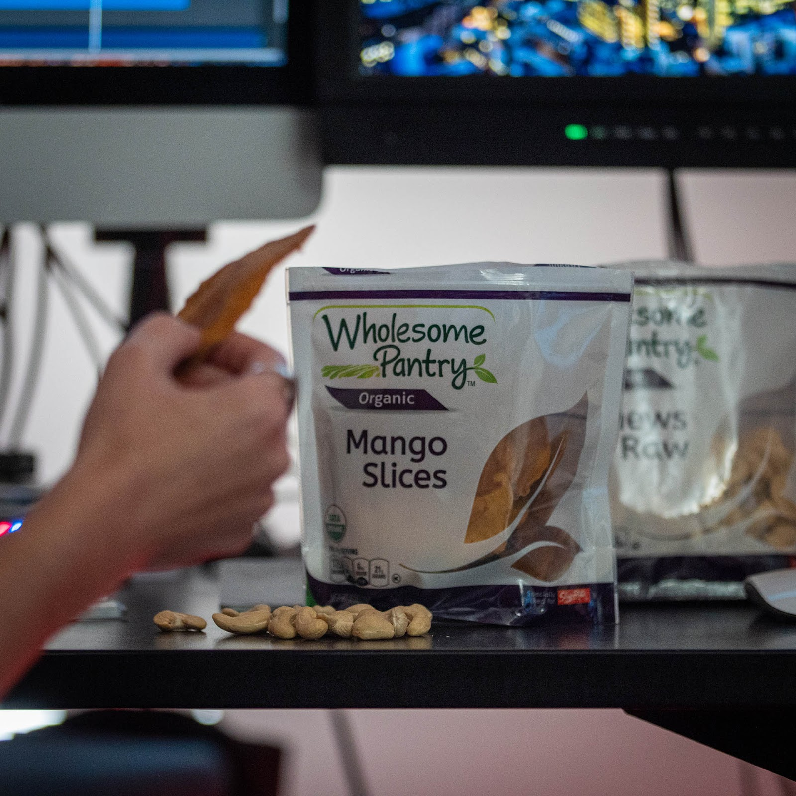 Wholesome Pantry dried fruit and nuts are balanced late afternoon desk snack. | Local Food Rocks