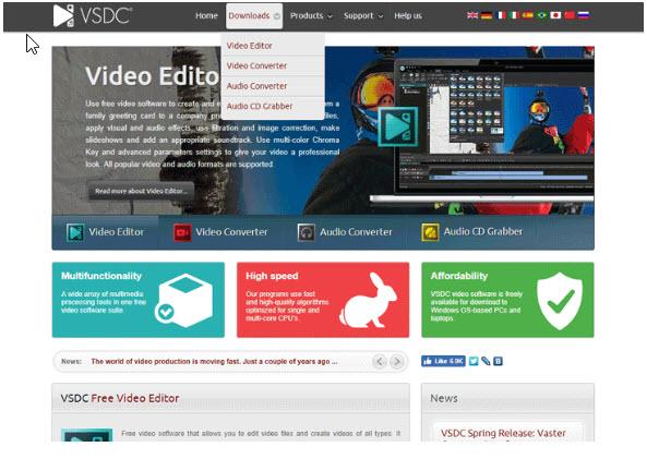 Website của VSDC - phần mềm chỉnh sửa video phổ biến bị lợi dụng phát tán mã độc đánh cắp thông tin - CyberSec365.org
