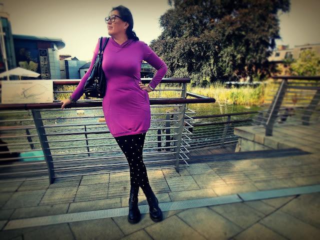 OOTD : Sukienka Diesel koloru fuksji, Dr Martens / Dress Diesel magenta, Dr. Martens