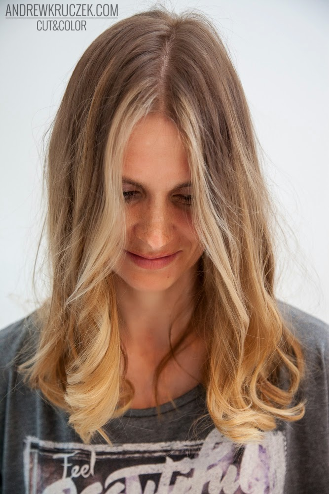 Andrzej Kruczek Cut And Color Cold Blond Base With Golden