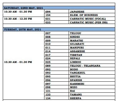 CBSE Board 2021 Class 10 Date sheet