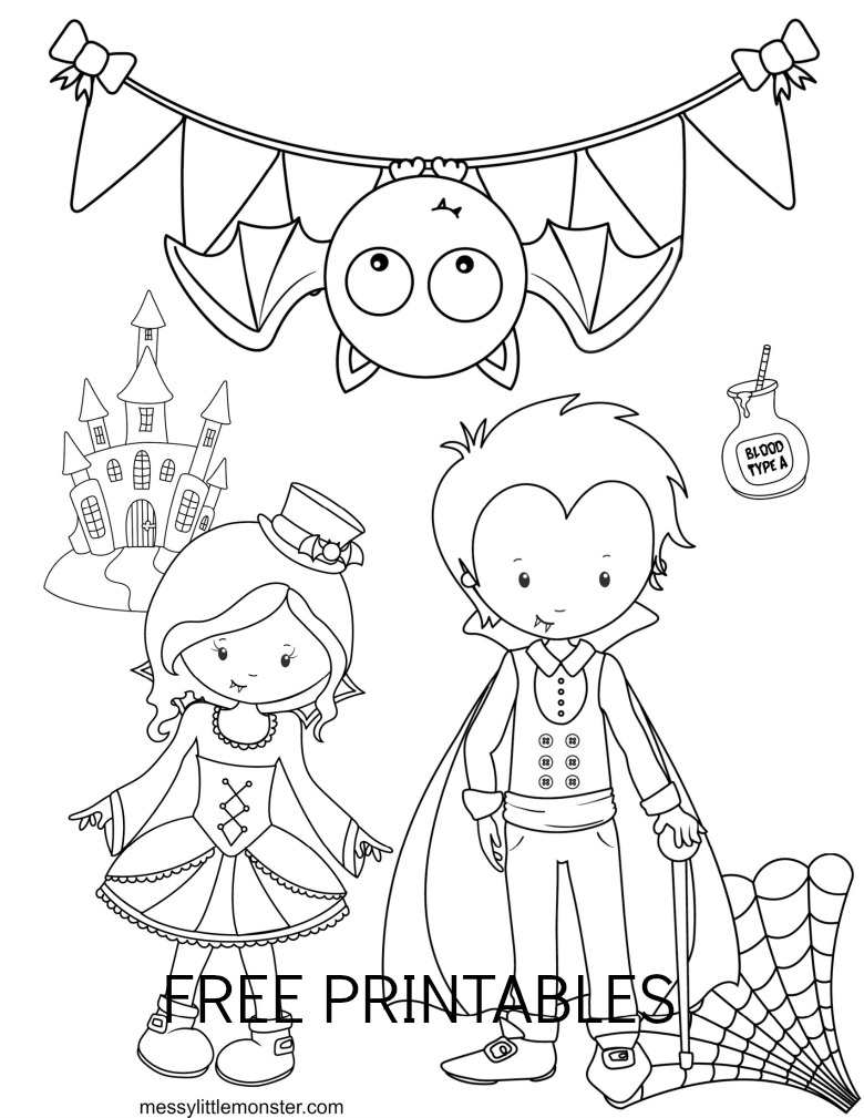 Printable Halloween Colouring Pages for Kids