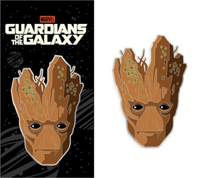 Guardians of the Galaxy Earth Day Special Edition Groot Portrait Enamel Pin by Tom Whalen x Mondo x Marvel