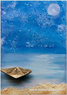 come dipingere il mare