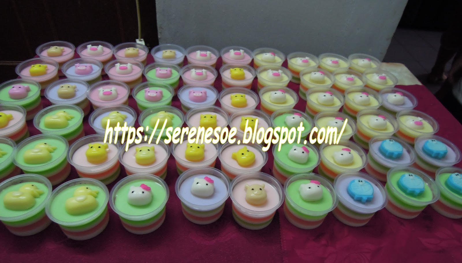 Cartoon Jelly Cake Recipe: 卡通杯子燕菜 Cartoon Cup Jelly