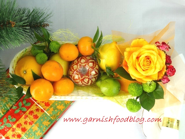 long fruit gift basket