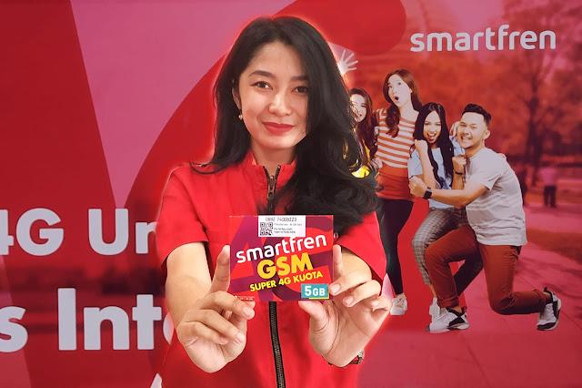 Khusus Millenial, Kartu Perdana Super 4G Kuota Smartfren 5GB Hanya Rp.12.500