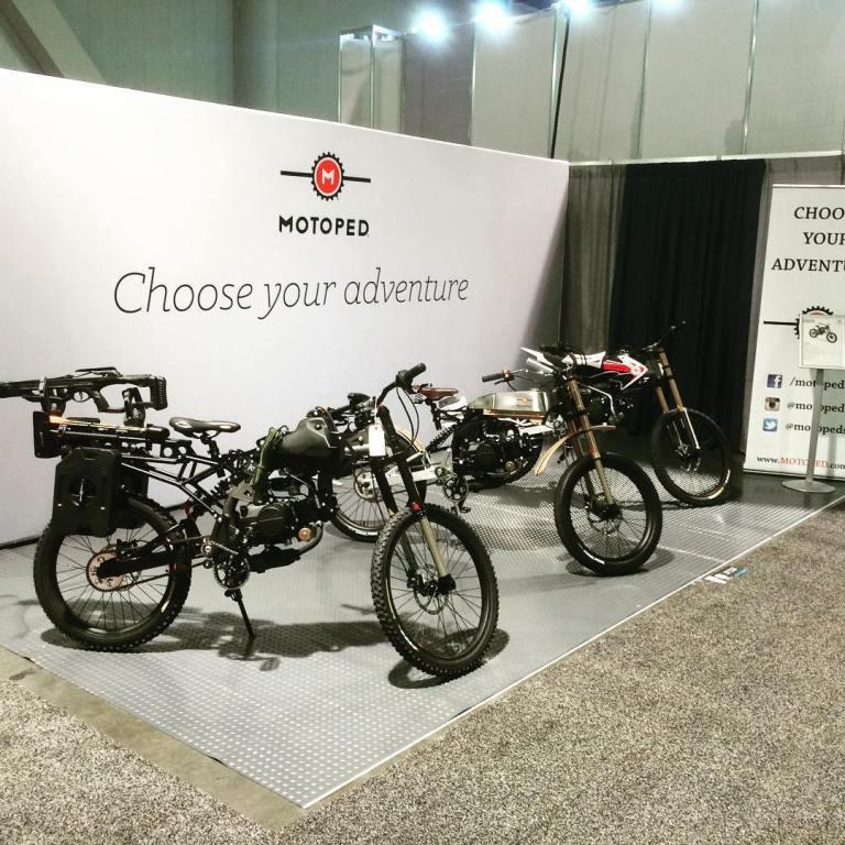 Motoped - Sepeda Custom All Terrain Bermesin ala Motor Scrambler