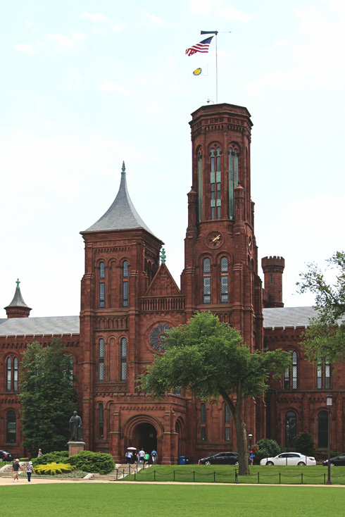 Inside Smithsonian Castle Washington DC
