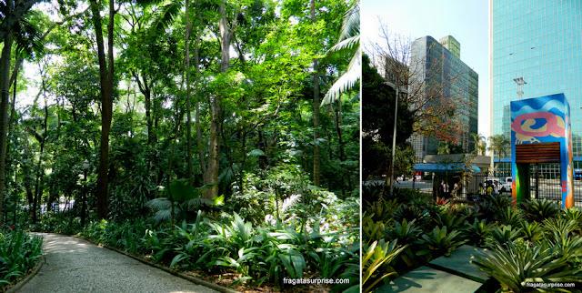 Parque Trianon e Parque Mário Covas, Avenida Paulista, São Paulo