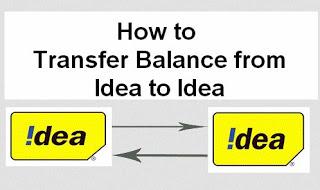 (*Working) Idea to Idea Balance Transfer code USSD working 2019