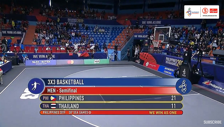 Gilas Pilipinas def. Thailand, 21-11 (VIDEO) Men's 3x3 Semis | SEA Games 2019