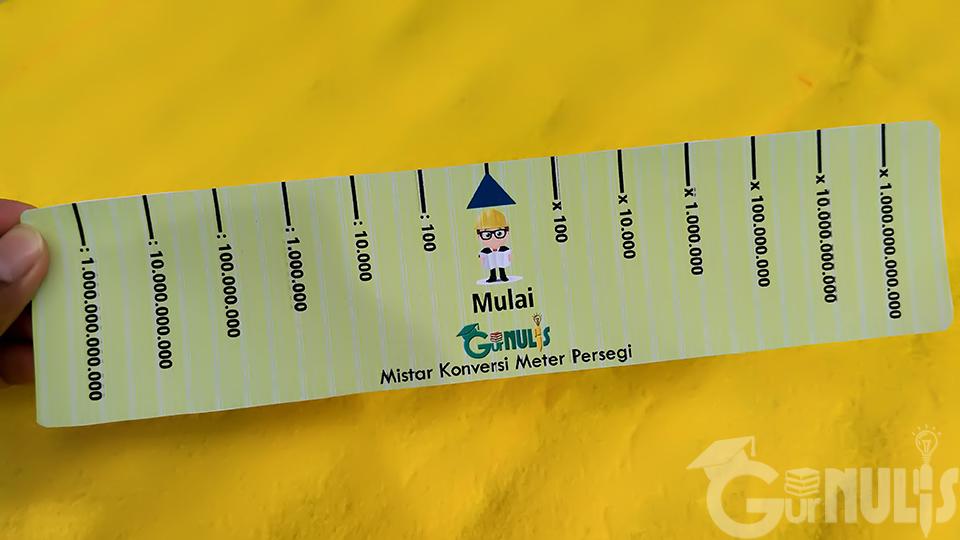 Mistar Konas, Media untuk Mengonversi Satuan Luas, www.gurnulis.id